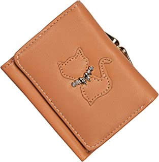 moca BOW-KNOT short mini wallet Purse for Womens Girls Ladies Short Mini Small Clutch Wallet cash card coin holder purse for womens Women's Ladies Girls