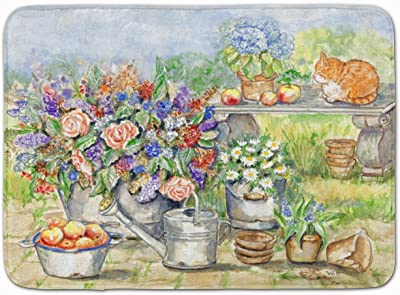 "Caroline's Treasures Patio Bouquet and Cat Floor Mat, APH3567RUG, Multicolor, 19"" x 27"""
