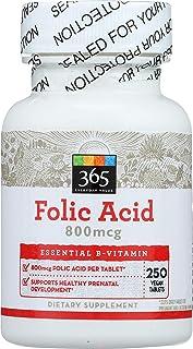 365 Everyday Value, Folic Acid 800mcg, 250 ct