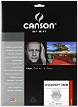Canson Infinity Fine Art and Photo Paper Discovery Pack, Museum Quality Inkjet Photo Paper, 8.5 x 11 Inch, 12 Sheets