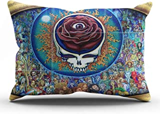 KEIBIKE Personalized Grateful Dead King Rectangle Decorative Pillowcases Decor Zippered Throw Pillow Covers Cases 20x36 Inches One Sided