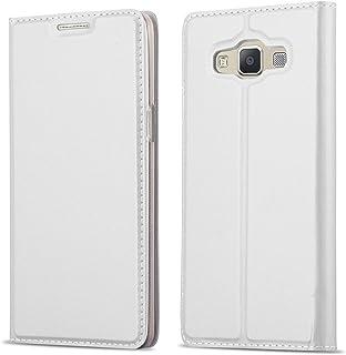 1806ffa0a57 Cadorabo Funda Libro para Samsung Galaxy A3 2015 en Classy Plateado –  Cubierta Proteccíon con Cierre