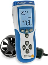 PeakTech P 5060 - Anemómetro y termómetro infrarrojo (-50 + 500 °C, con interfaz USB)