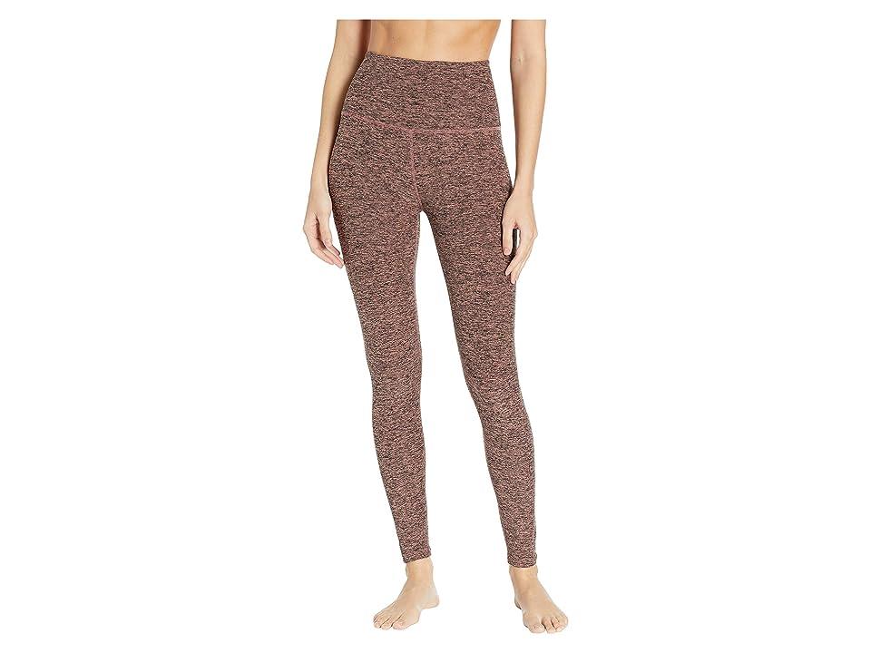 Beyond Yoga Spacedye High-Waist Midi Leggings (Black/Pink Lei) Women
