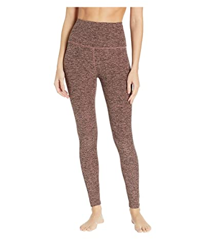 Beyond Yoga Spacedye High-Waist Midi Leggings (Black/Pink Lei) Women