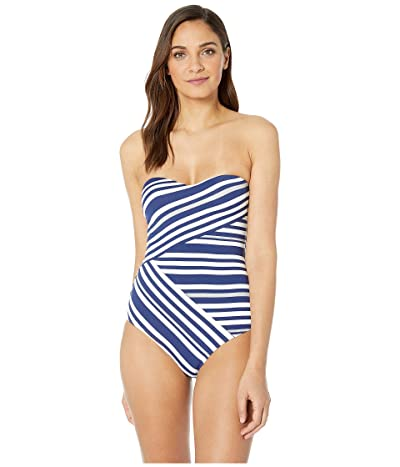 JETS SWIMWEAR AUSTRALIA Vista Bandeau One-Piece (Blue/White) Women