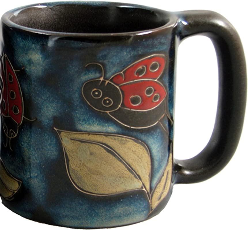 Mara Stoneware Mug Lady Bug 16 Oz