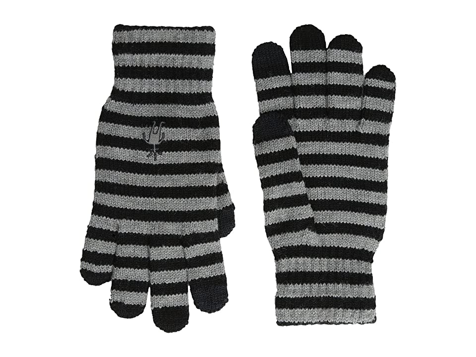 Smartwool Striped Liner Glove (Black) Extreme Cold Weather Gloves