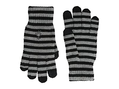 Smartwool Striped Liner Glove (Black) Extreme Cold Weather Gloves