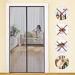 COAOC Magnetic Door Screen, Screen Magnets No Bugs Magnetic Screen Door for French Doors - Black 185x240cm(72x94inch)