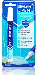 Sealant Pen White Caulk Marker: Waterproof Silicone Colorant Paint, Stain Remover, Sink, Kitchen, Shower, Bathroom Tile - ...