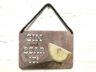 Gin and Bear It Metal Plaque