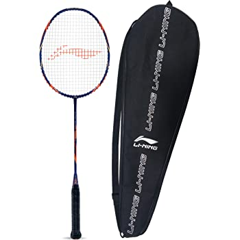 Li-Ning SS-X Series Carbon-Graphite Strung Badminton Racquet with Free Racket Cover