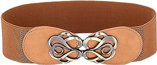 GRACE KARIN Women's Fashion Wide Metal Buckle Elastic Wide Waist Belt