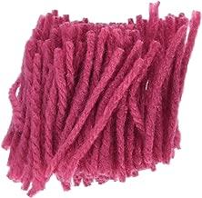 M C G Textiles Latch Hook Rug Yarn, Dark Pink