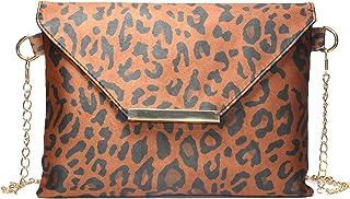 Schultertasche mit Leoparden-Print, niedlich, Messenger Bag, Umschlagtasche, Clutch, Täglich, Crossbody-Tasche, Partygeldb...