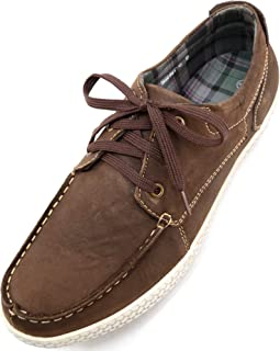 ABSOLUTE FOOTWEAR Mens Real Leather Suede Casual Lace Up Summer/Holiday Boat/Deck Shoes