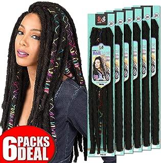 [6PACKS DEAL] Bobbi Boss Synthetic Pre-Made Loop Crochet Braiding Hair Extension Bae Locs 20