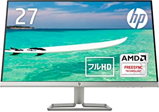 HP モニター 27インチ ディスプレイ フルHD 非光沢IPSパネル 高視野角 超薄型 省スペース スリムベゼル HP 27f ブラック (型番:2XN62AA#ABJ)