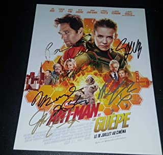 Paul Rudd and Evangeline Lily - Autographed Signed 6x 8.5x11 inch Photograph - ANT-MAN and the WASP