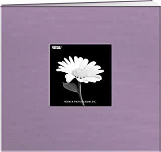 Pioneer 8 Inch by 8 Inch Postbound Fabric Frame Cover Memory Book, Misty Lilac
