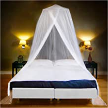 Luxury Mosquito Net Bed Canopy, Ultra Large: for Single To King Size, Quick Easy Installation, Finest Holes: Mesh 380, Cur...