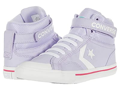 Converse Kids Pro Blaze Strap Mesh Collar Hi (Little Kid/Big Kid) (Moonstone Violet/Cerise Pink/White) Girl
