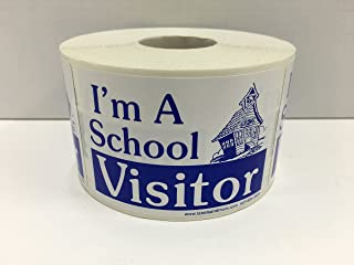 500 Labels 2x3 Blue I'M A SCHOOL VISITOR Name Tag Identification Badge Stickers 1 Roll