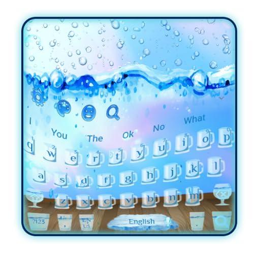 Happy Glass Water Keyboard Theme