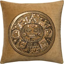 "Loloi Gold/Gold Decorative Accent Pillow, DSETP0437GOGOPIL1, Gold, 18"" x 18"" Cover with Down"
