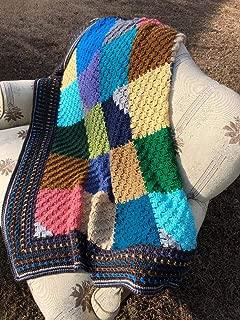 Handmade Many Colors Throw Afghan Blankey