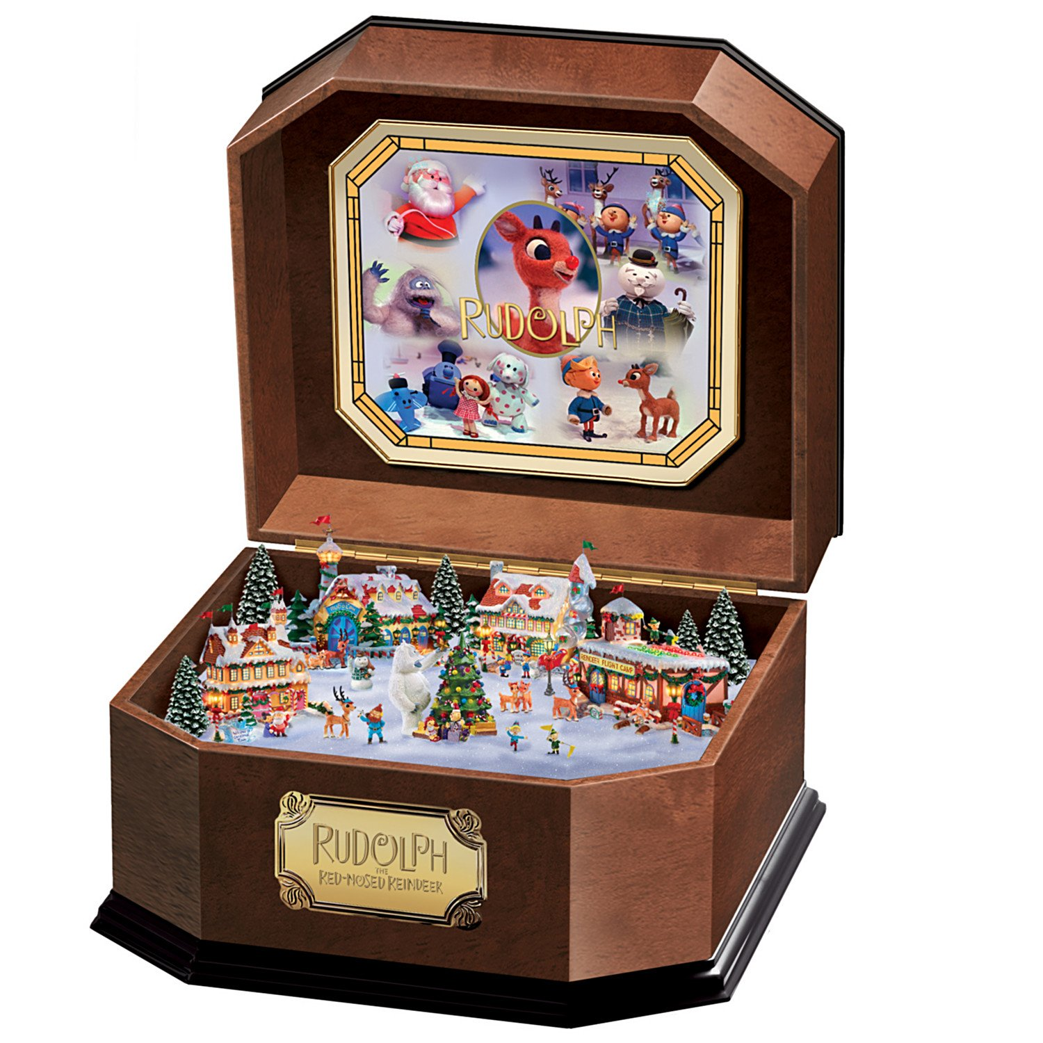 Image of Christmas Celebration, Rudolph The Red-Nosed Reindeer Music Box