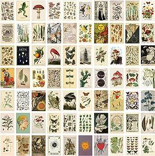 Morantsale 70 Stks Botanische Foto's Collage Kit voor Muur Esthetische Muur Collage Kit Planten Posters Collage Slaapkamer...