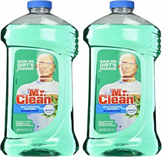 Mr. Clean Meadown & Rain Febreze Freshness Meadows & Rain Multi-Surface Cleaner 40 oz (2 Bottles), 80 Oz, Green, 2 Count