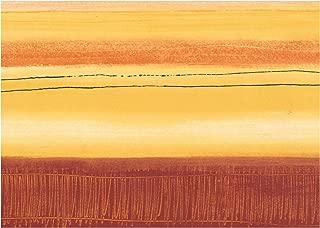 Prepasted Wallpaper Border - Abstract Modern Art Garnet Red Yellow Wall Border Retro Design, Roll 15 ft. x 7 in.