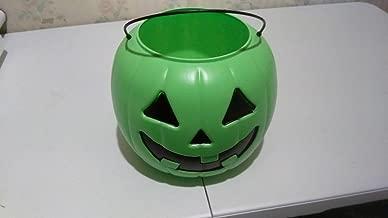 Halloween Pumpkin Jack O Lantern Candy Bucket (Green)