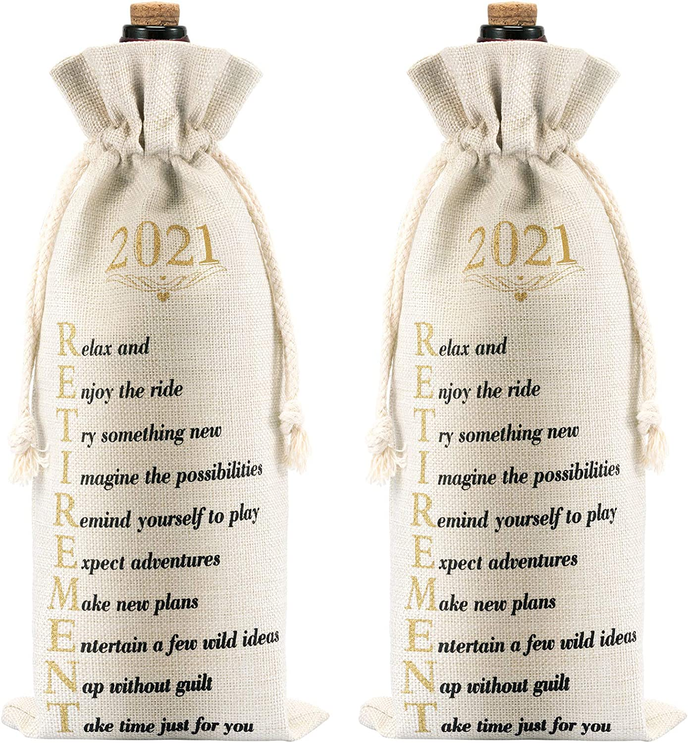 Ranking TOP20 2 Factory outlet Pieces Retirement Gift Wine with Bottle Bags Dr