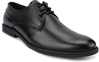 AvantHier Black Lace Up Genuine Leather Formal Shoes for Men's/Boys