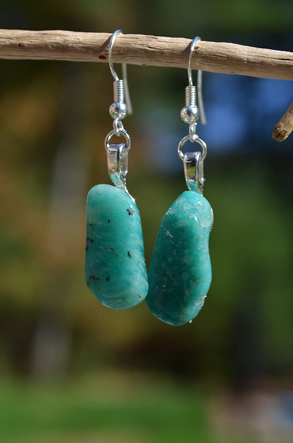 Amazonite Stone Sterling Earrings Max 70% SEAL limited product OFF Silver