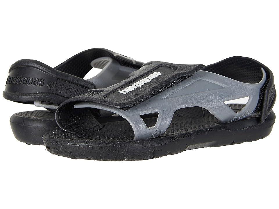 Havaianas Kids Move Sandals (Toddler/Little Kid/Big Kid) (Black) Boys Shoes
