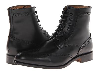 Massimo Matteo 7-Eye Wing Boot (Black) Men