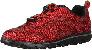 Propet Women's TravelActiv Aero Sneaker, Red, 8 Wide