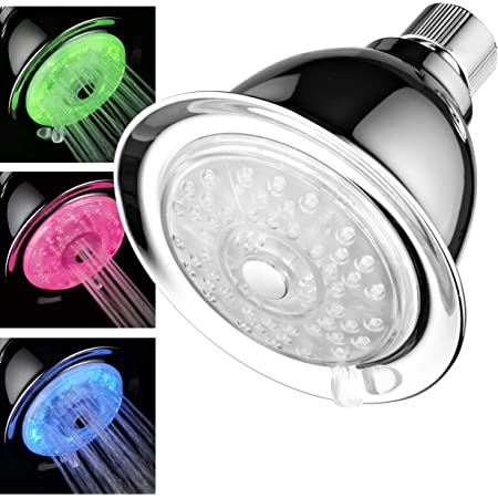 Traxx Color Changing LED Shower Head Powered By Running Water