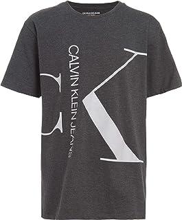 Calvin Klein boys Calvin Klein Boys' Split Monogram Short Sleeve Logo Crew Neck Tee Shirt Calvin Klein Boys' Split Monogra...