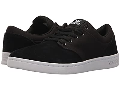 Supra Chino Court (Black Suede/White) Men