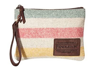 Pendleton Clutch w/ Grommet (Glacier Stripe) Clutch Handbags