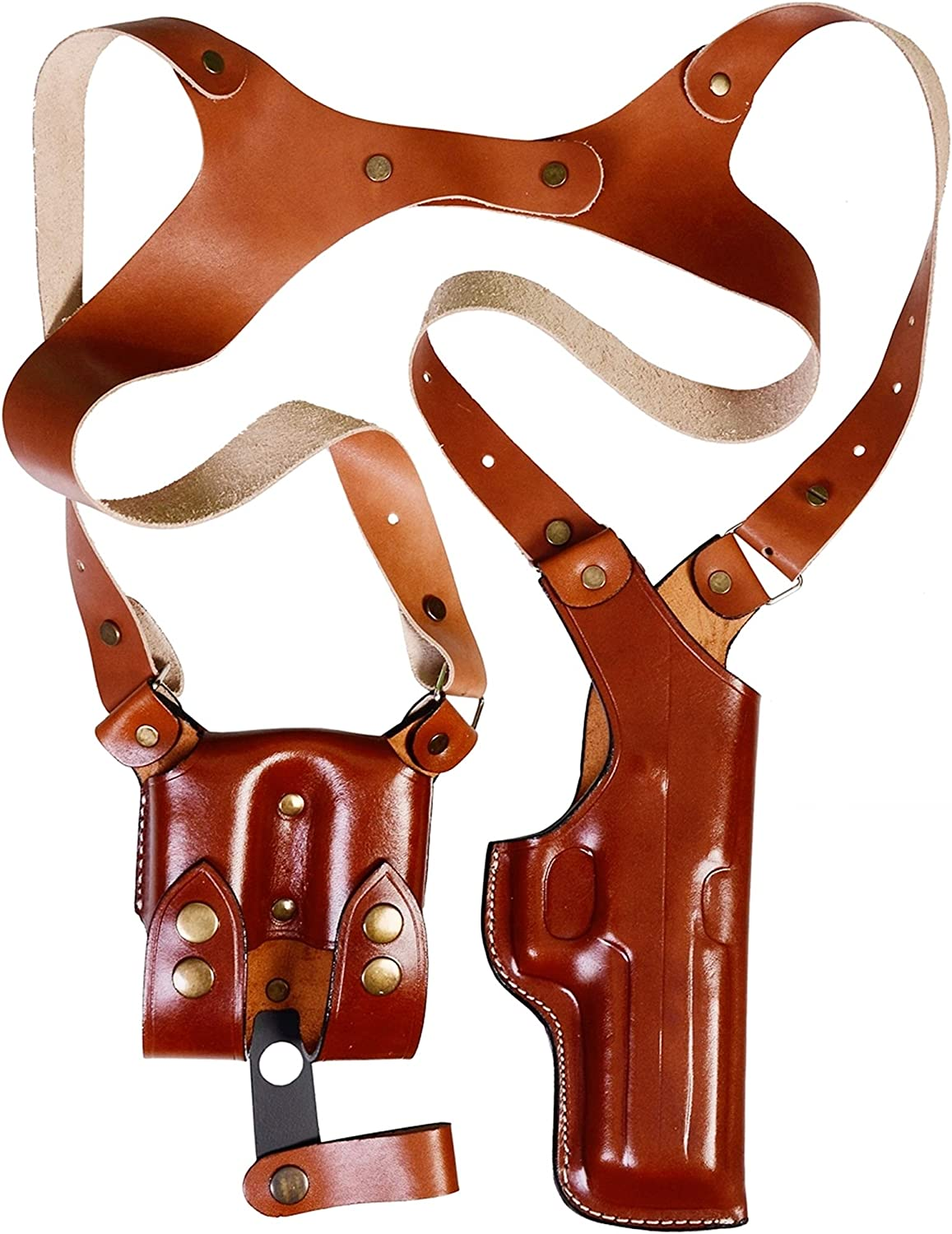 Vertical Ranking TOP15 Leather Shoulder Holster for Glock Ma Arlington Mall 19 - Double 17 21