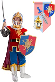 Medieval Knight Costume Deluxe Set for Boys Halloween Party Dress Up,Role Play and Cosplay