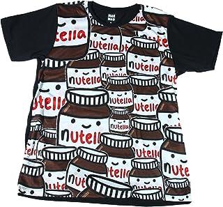 ヌテラ チョコクリーム 外国 朝食 ストリート系 スケーター おもしろTシャツ メンズTシャツ半袖 [並行輸入品]