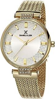 ساعة دانيال كلاين بريميوم خليط معدني بسوار شبكي للنساء - Dk.1.12470-2 ذهبي